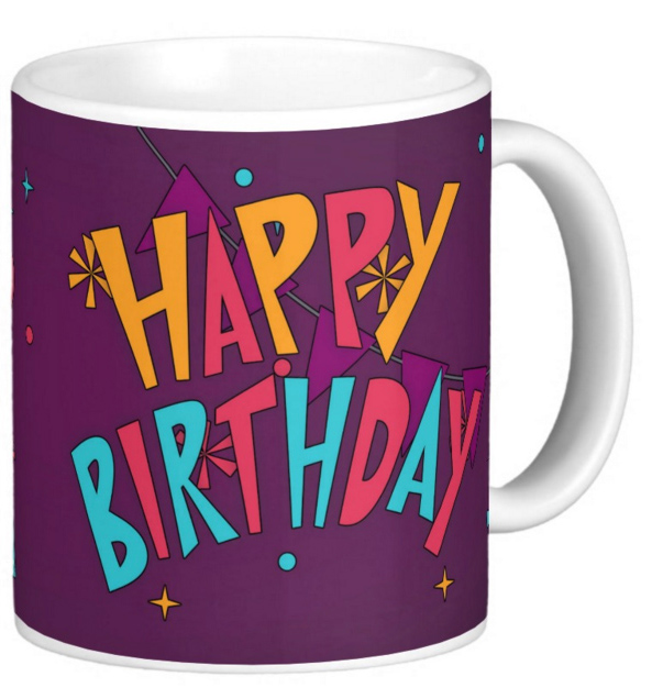 Birthday Mug Cake Bold And Bright Gift